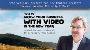 Free Webinar, Video Marketing
